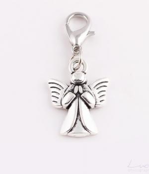 Prívesok na talizman – anjel strieborný 3cba9e6d355